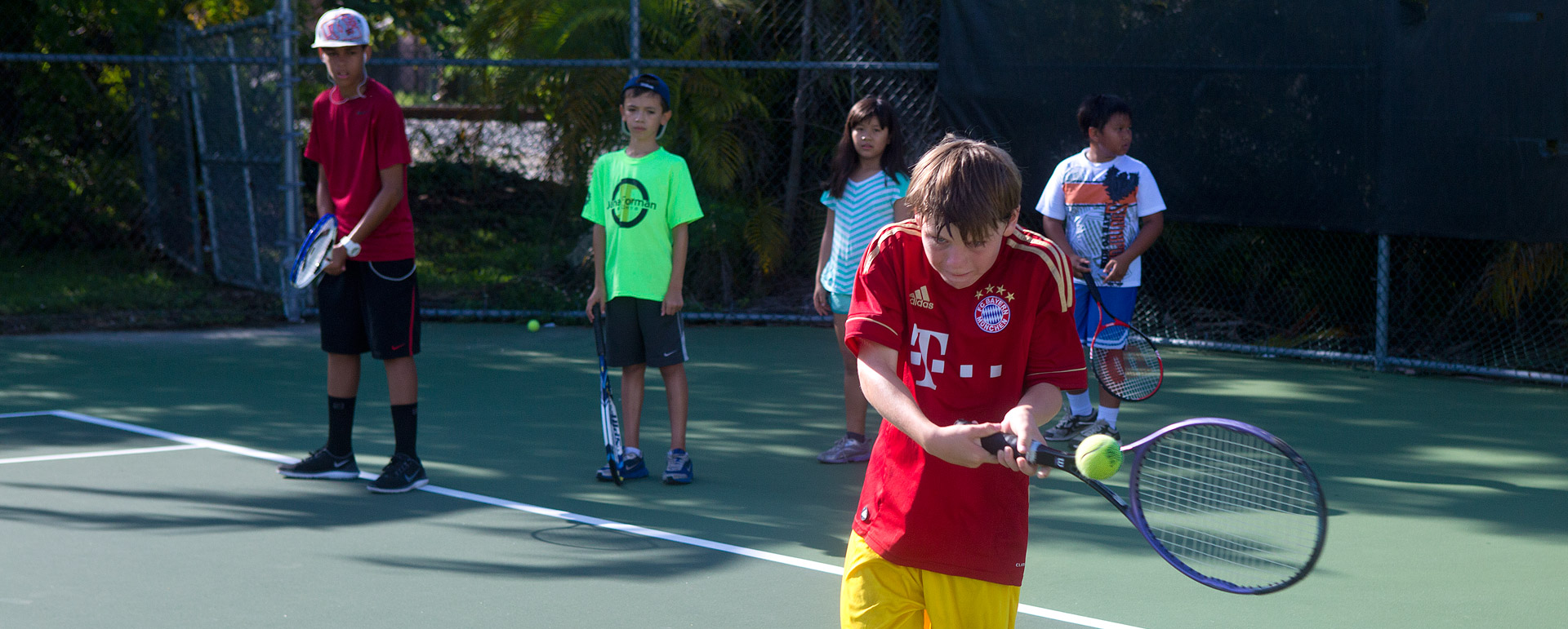 DCSF scholarship recipients having fun at Tennis Camp